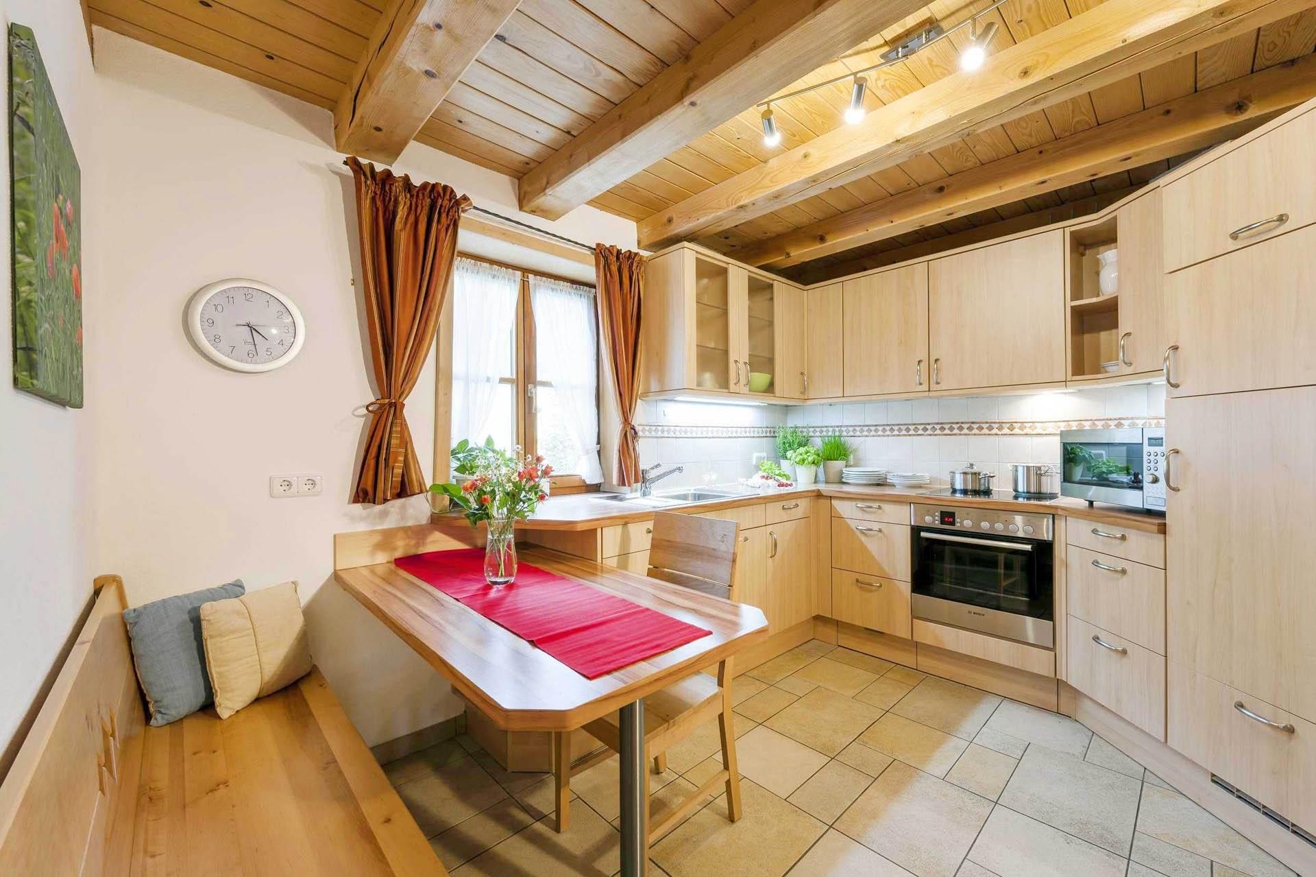 Küche Ferienwohnung Mohnblume, Huberhof Ollerding