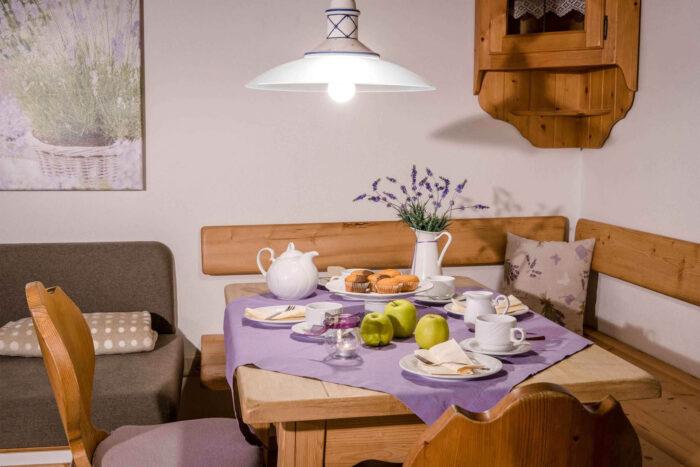 Feienwohnung Lavendel, Essbereich, Huberhof Ollerding