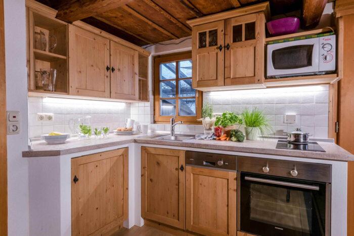 Ferienwohnung Lavendel, Küche, Huberhof Olleding