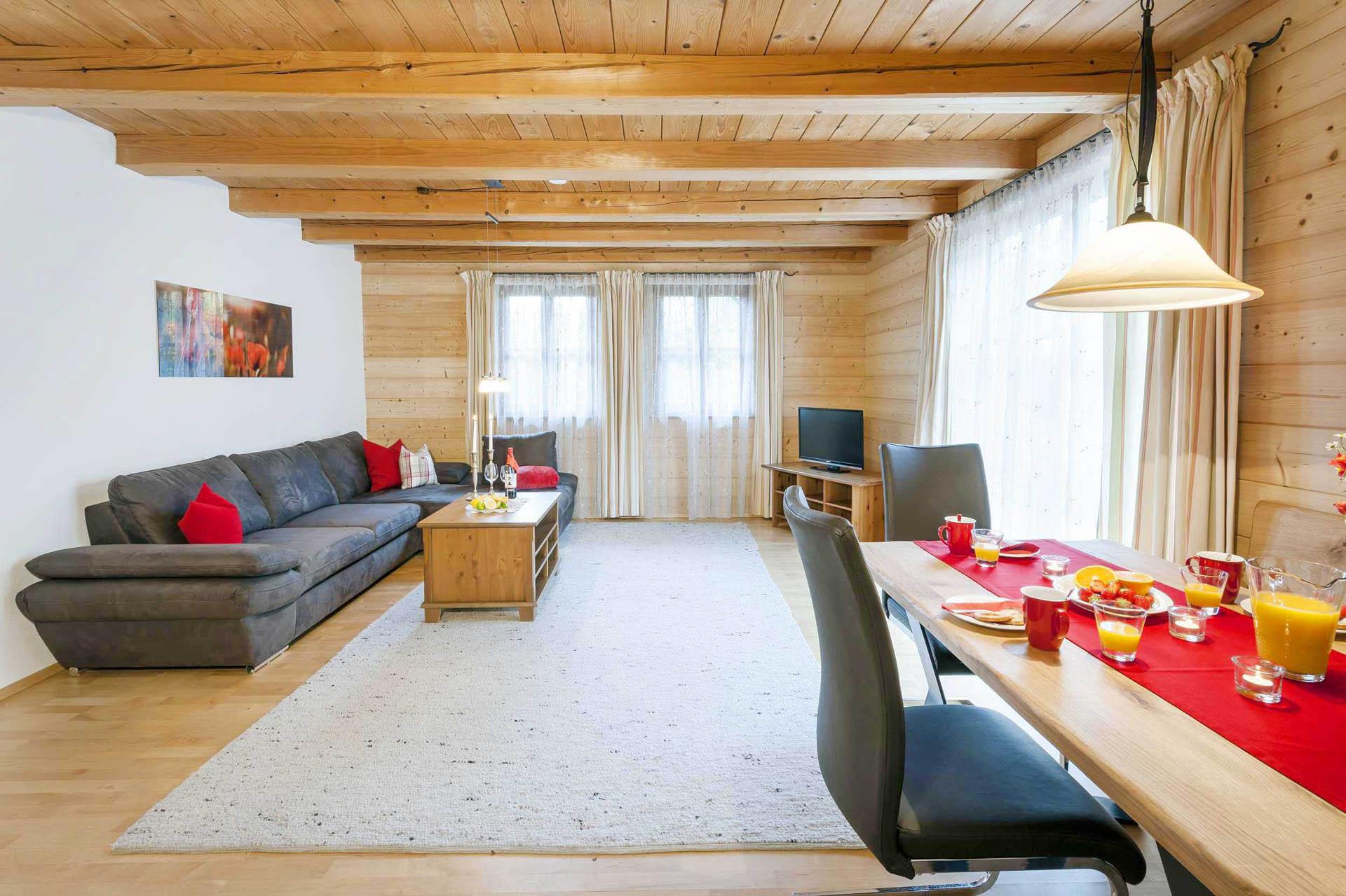 Wohnraum, Ferienwohnung Mohnblume, Huberhof Ollerding